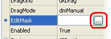 Раскрывающееся свойство EditMask
