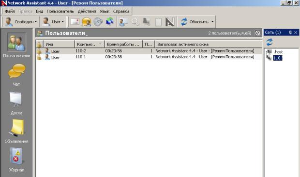 Network Assistant (интерфейс)