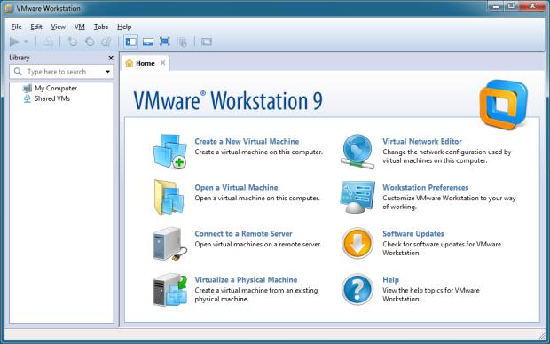 Стартовое окно запуска VM с английским интерфейсом