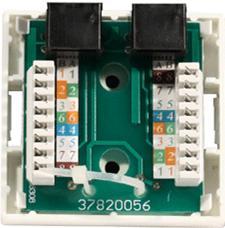 Цветовая маркировка проводов розетки стандарта T568B это: 1 бело-ор, 2 ор, 3 бело-зел, 4 син, 5 бело-син 6 зел 7 бело кор, 8 кор (для варианта T568А цвета тоже нарисованы)