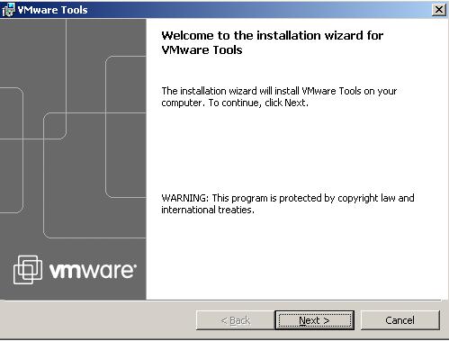 Установка средств VMware Tools